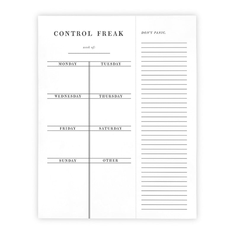 Control Freak Weekly Planner - Posh West Boutique