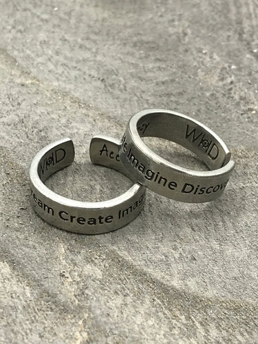 Pewter Explore, Dream, etc Ring - Posh West Boutique