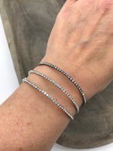 Load image into Gallery viewer, Silver or Hematite Dainty Bling Bracelet - Posh West Boutique