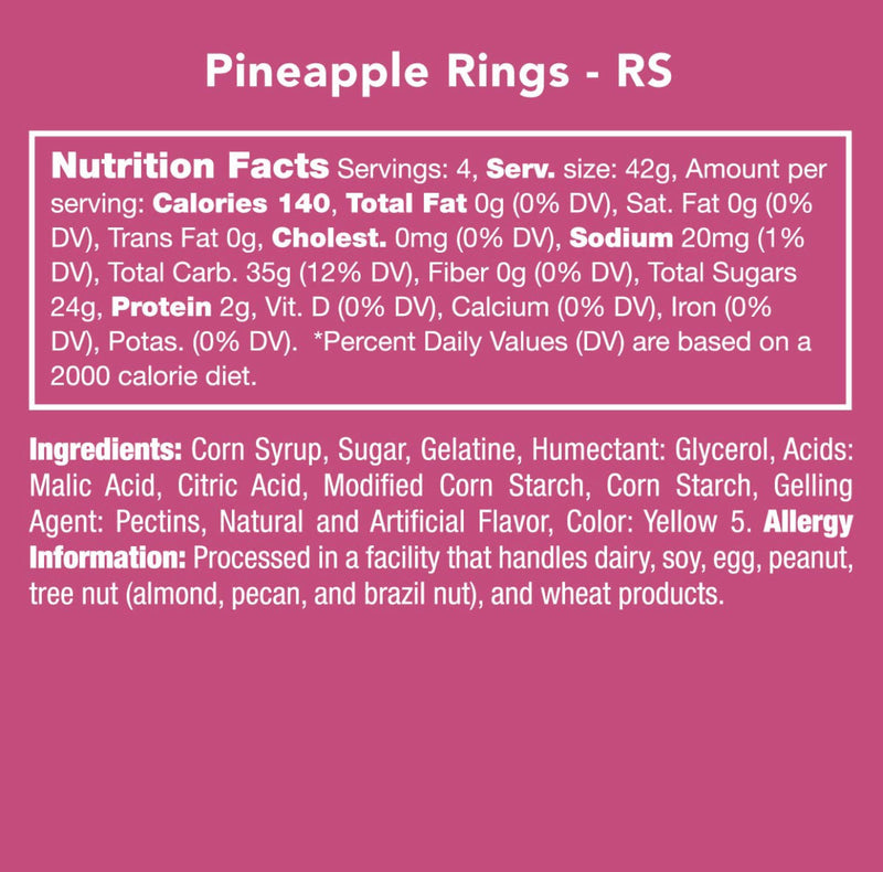 Pineapple Rings Candy Club - Posh West Boutique