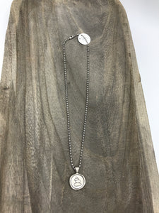 BALANCE Wax Seal Ball Chain Necklace - Posh West Boutique