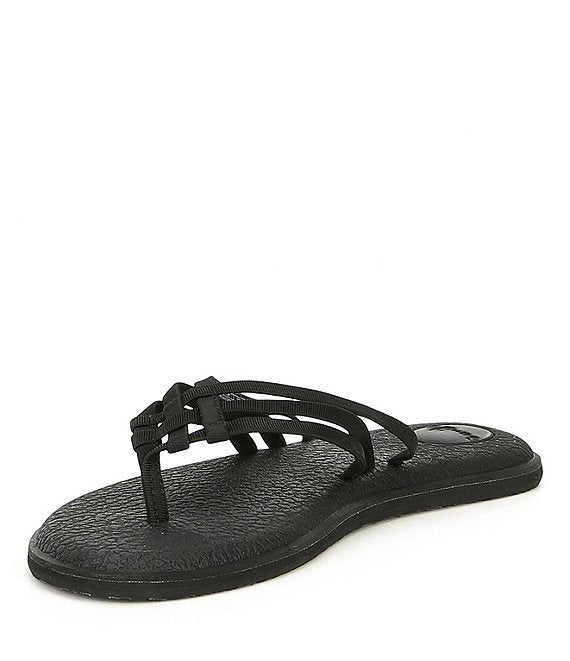 NEW!! Sanuk Yoga Salty Black Flip Flops - Posh West Boutique