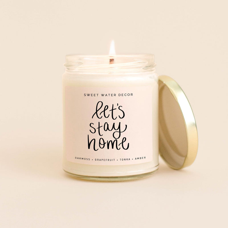 Let's Stay Home Soy Candle - Posh West Boutique
