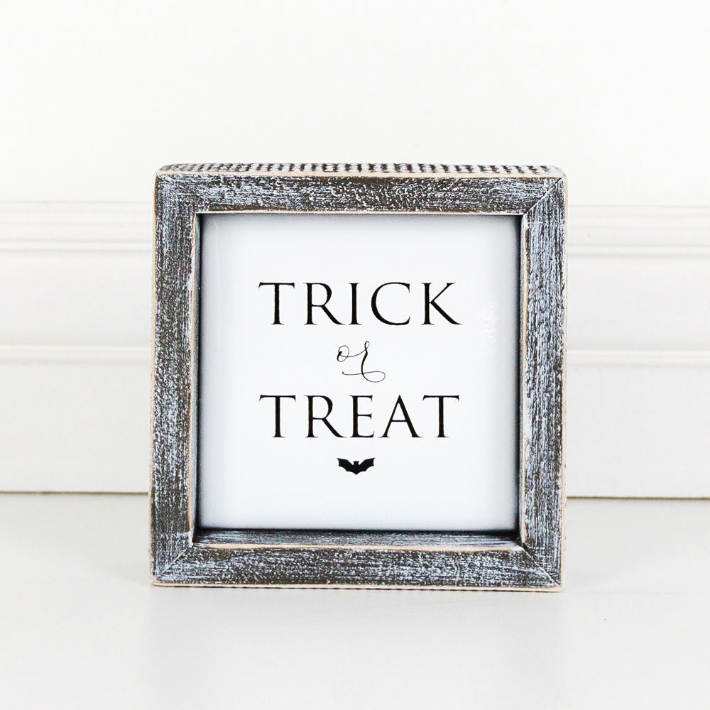 Trick or Treat Wood Sign - Posh West Boutique
