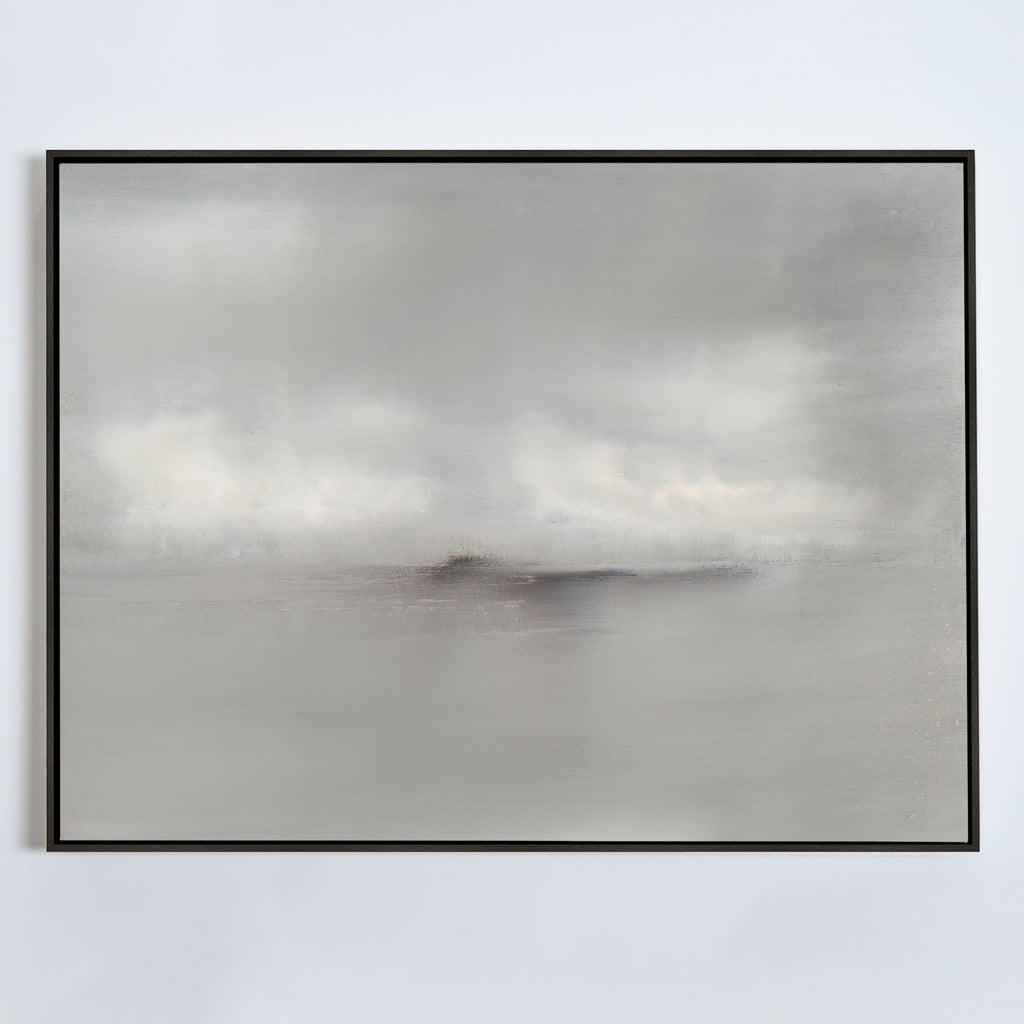 Haze No. 1 canvas ebony frame