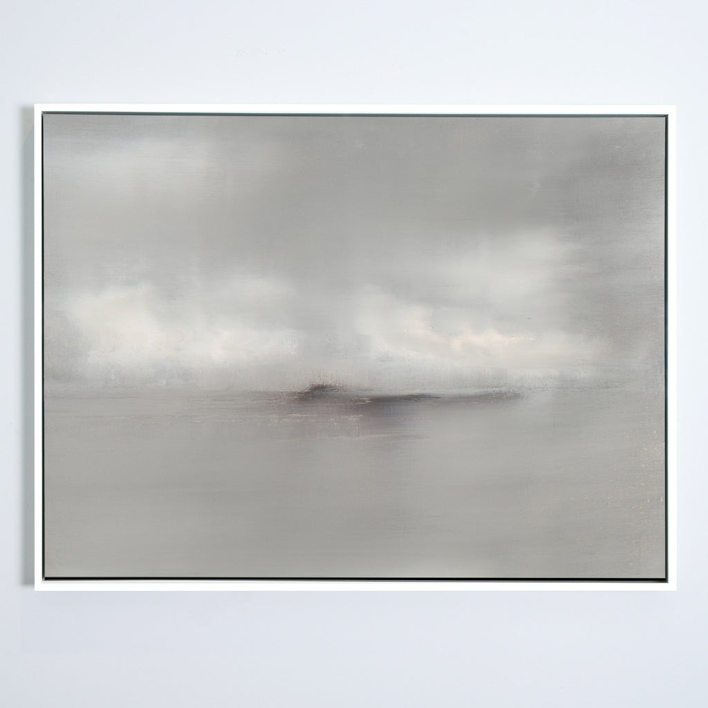 Haze No. 1 canvas white frame