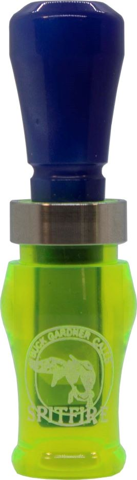Acrylic SpitFire 1.5 Reed Duck Call - Fluorescent Green/Blue Pearl