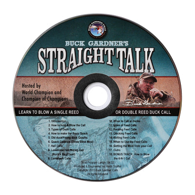 Straight Talk - Duck Calling Instructional CD