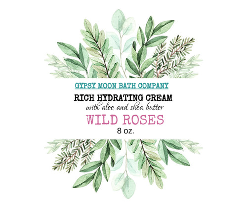 ORGANIC THERAPEUTIC MIRACLE CREAM    Wild Roses     8oz.