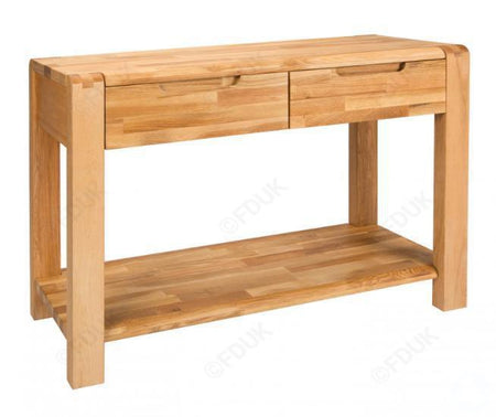 Green Apple Camden 2 Drawer Console Table RRP £619-Interior Auctions