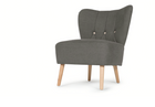 CLEARANCE Made.com Charley Accent Armchair, Graphite Grey NEW
