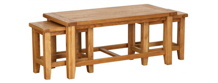 Besp Oak Nest of 3 Coffee Tables