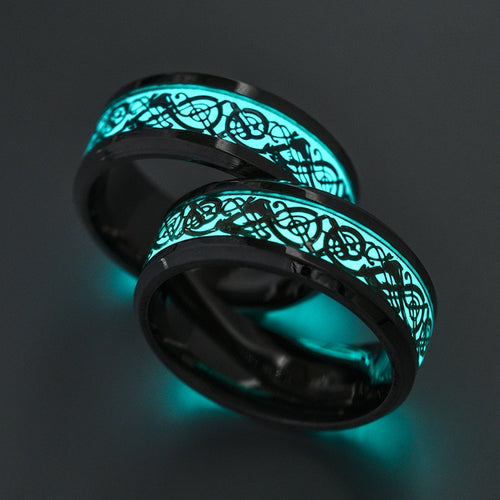 Dark Golden Dragon Magic ring