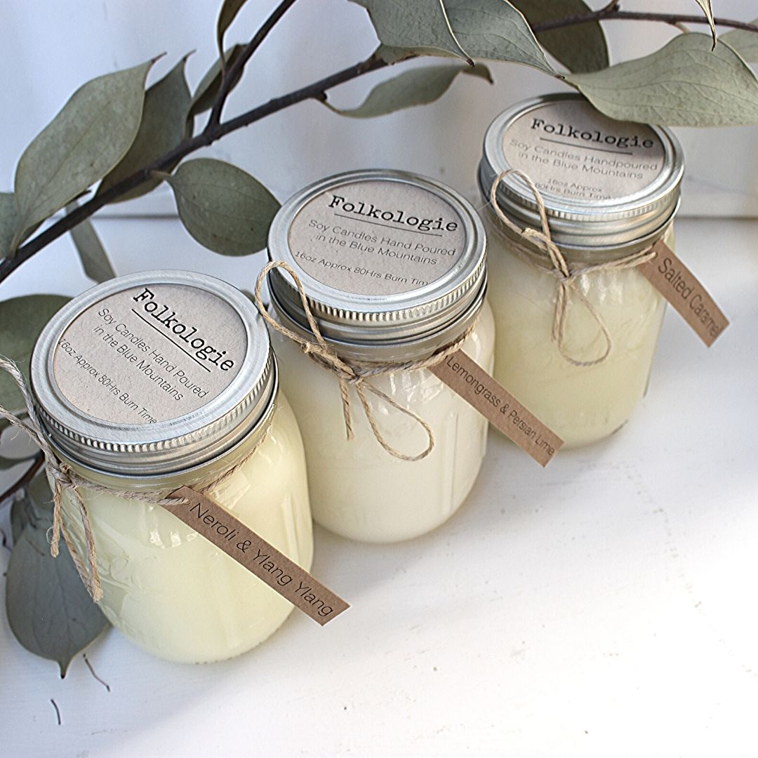 Folkologie Soy Candle Lemongrass & Persian Lime