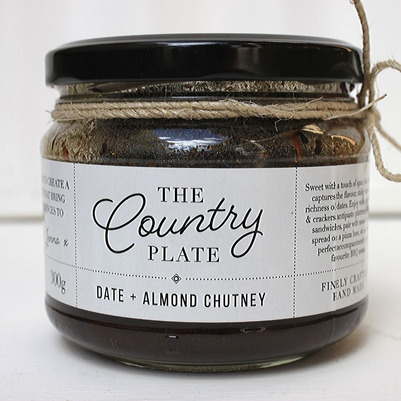 The Country Plate Date & Almond Chutney