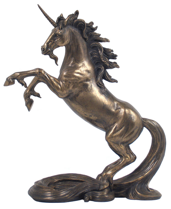 Veronese Bronze Unicorn Figurine - Magical Mythical Statue