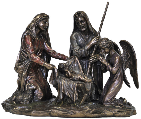 Veronese Bronze Nativity Scene Figurines Statue