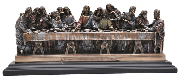 Jesus and the last supper bronze veronese statue with Free Shipping and Afterpay