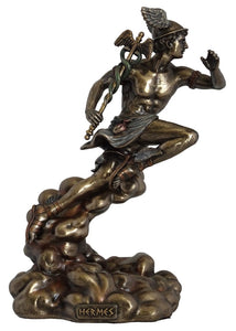 Veronese Bronze Hermes Greek God of Merchants Statue