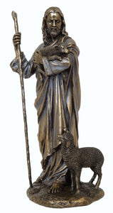 Veronese Bronze Jesus Christ The Good Shepherd Figurine