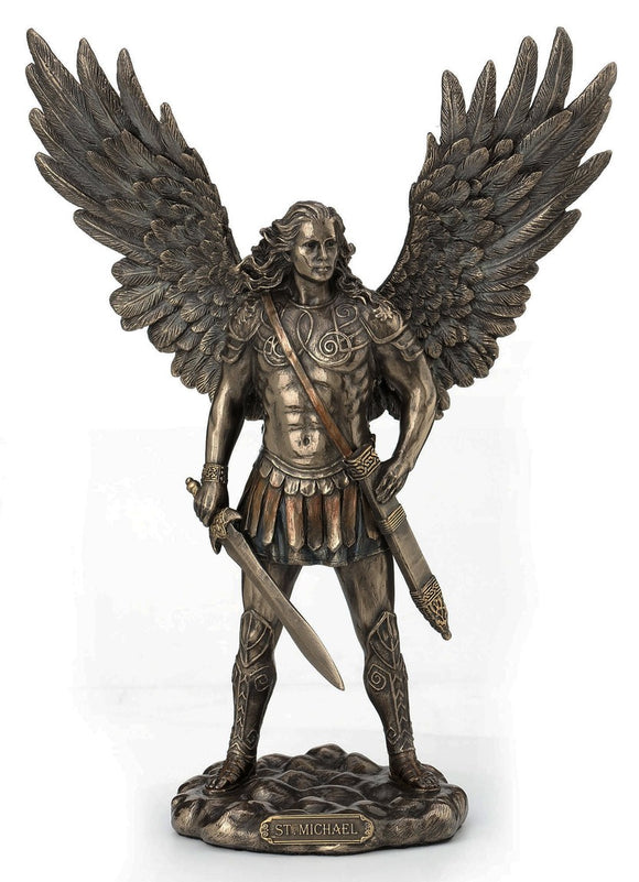 Veronese Bronze Michael with sword Archangel Figurine Statue