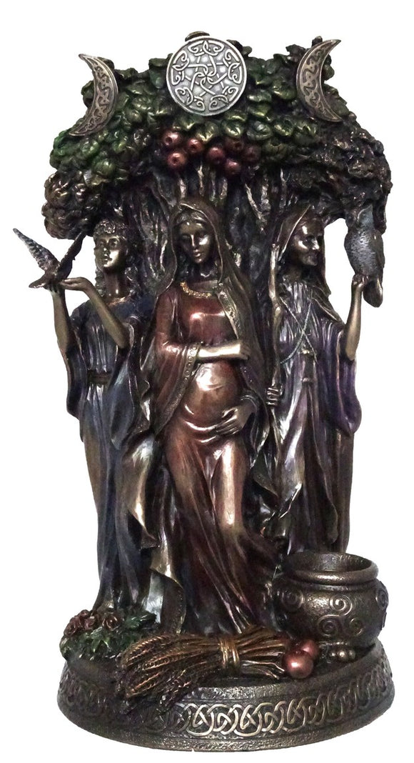 Veronese The Wiccan Triple Goddesses- Maiden, Mother and Crone Figurine Statue