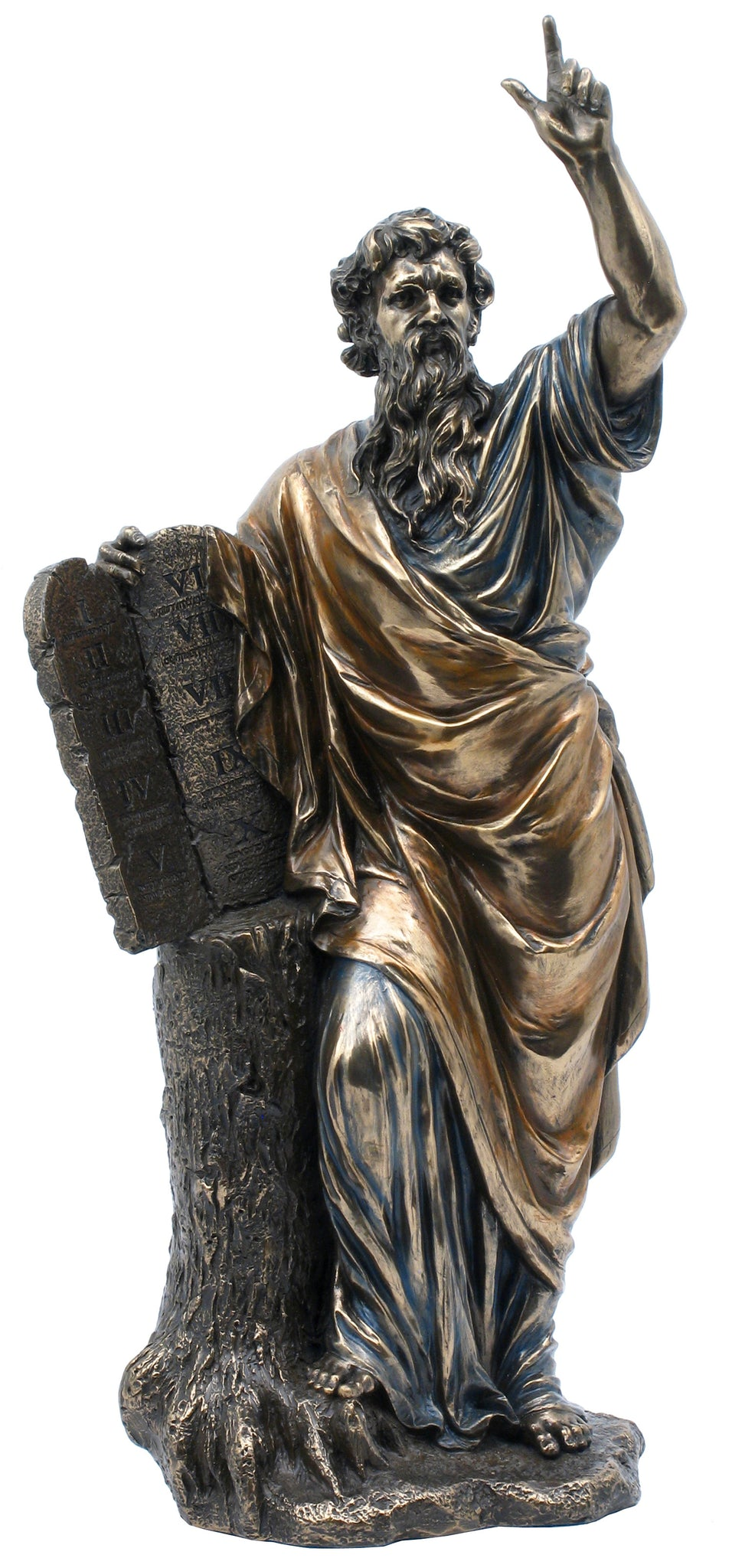 Veronese Bronze Moses and the 10 Commandments Figurine