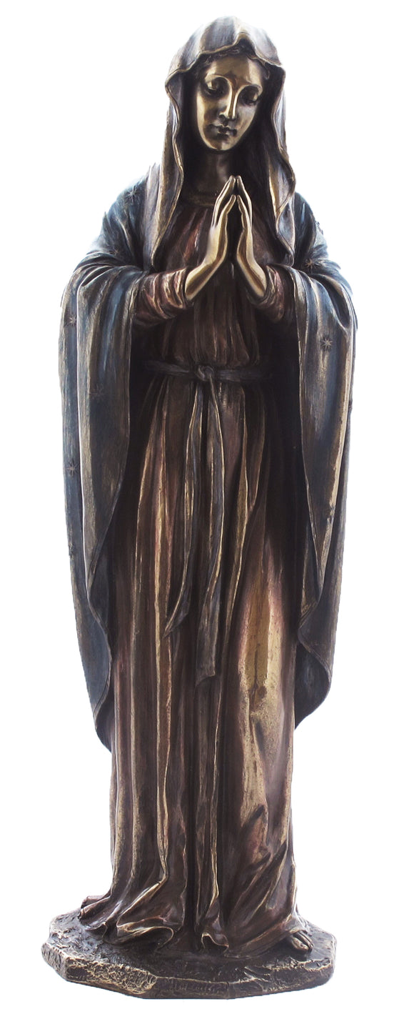 Veronese Bronze Mother Mary Figurine - Religious Statue