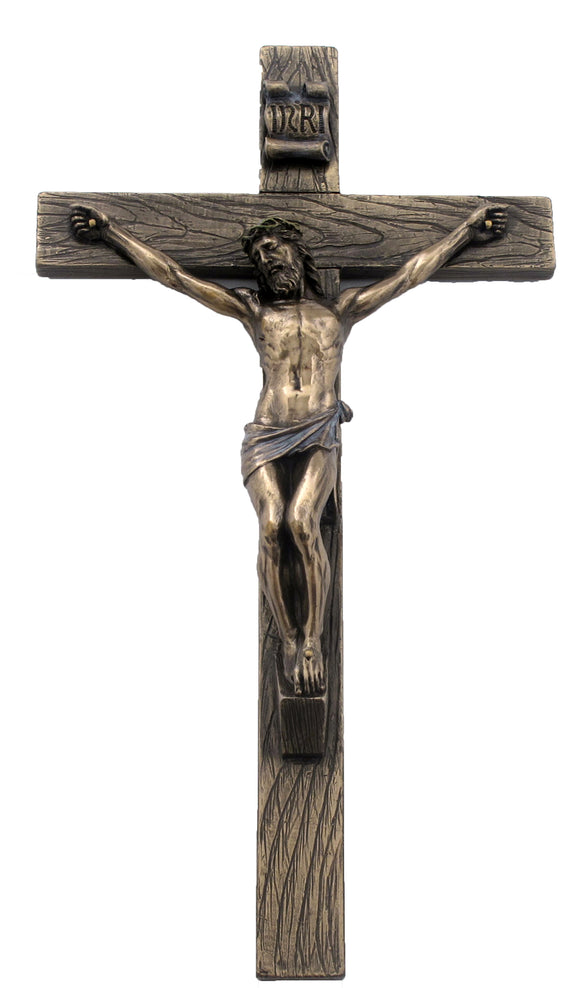 Veronese Bronze Crucifixion of Jesus Catholic Wall Plaque Hanging