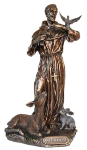 Veronese Bronze Saint Francis of Assisi Figurine Statue