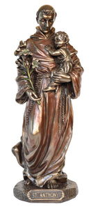 Veronese Bronze Catholic Saint Anthony Figurine Statue