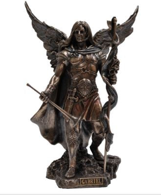 Veronese Bronze Archangel Gabriel with Sword Statue with Free Shipping Aus Wide and Afterpay