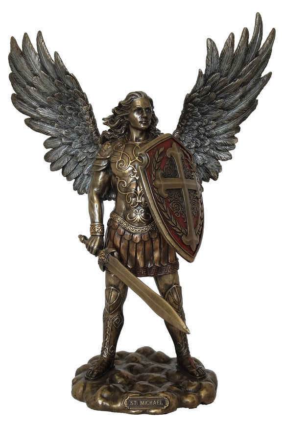 Veronese Archangel Michael Bronze Figurine Statue with Afterpay and Free Shipping Australia Wide