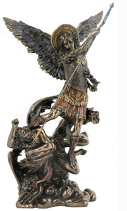 Veronese Bronze Archangel Michael Stepping on demon statue figurine with Free Shipping Aus Wide with Afterpay