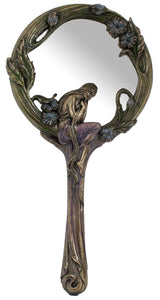 Veronese Bronze Languid Lady Handheld Mirror  - Decorative Mirror