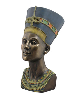 Veronese Bronze Head and Bust of Egyptian Queen Nefertiti