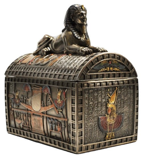 Veronese Bronze Egyptian Sphinx Trinket Box