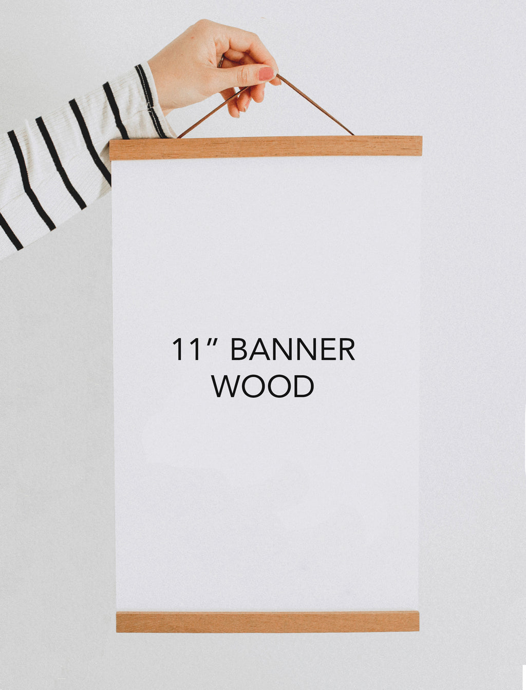 "11"" Magnetic Banner Wood"