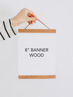 "8"" Magnetic Banner Wood"