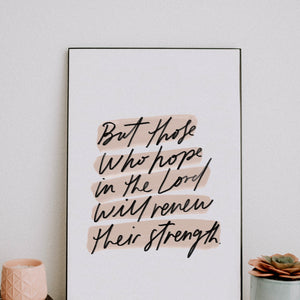 11x17 But Those Who Hope