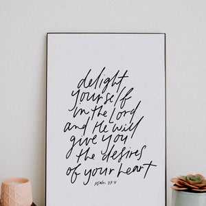 11x17 Delight yourself in the Lord
