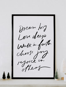 Poster: Dream Big love deep