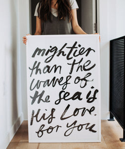 Poster: Mightier Than The Waves Of...