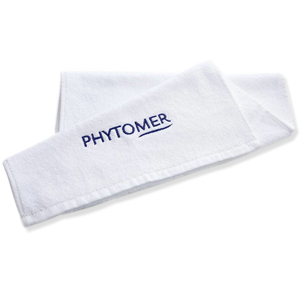 PHYTOMER WHITE EMBROIDERED SPONGE SMALL TOWEL