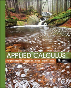 Applied Calculus 5th Edition by Deborah Hughes-Hallett