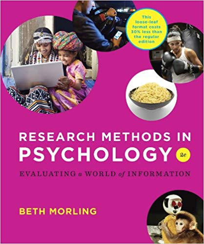 Research Methods in Psychology Evaluating a World of Information