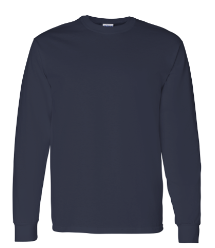 Cotton Long Sleeve T-Shirt Navy)