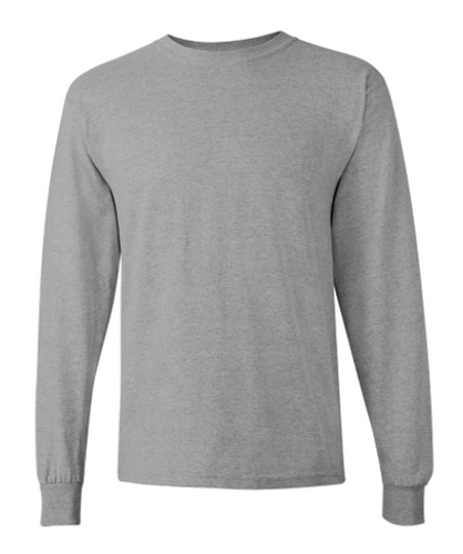 Cotton Long Sleeve T-Shirt (Grey)