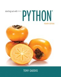 Starting Out with Python 4th Edition by Tony Gaddis