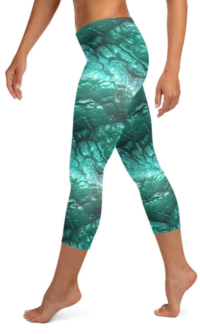 Alien Flesh Capri Leggings - Legs Of Anarchy